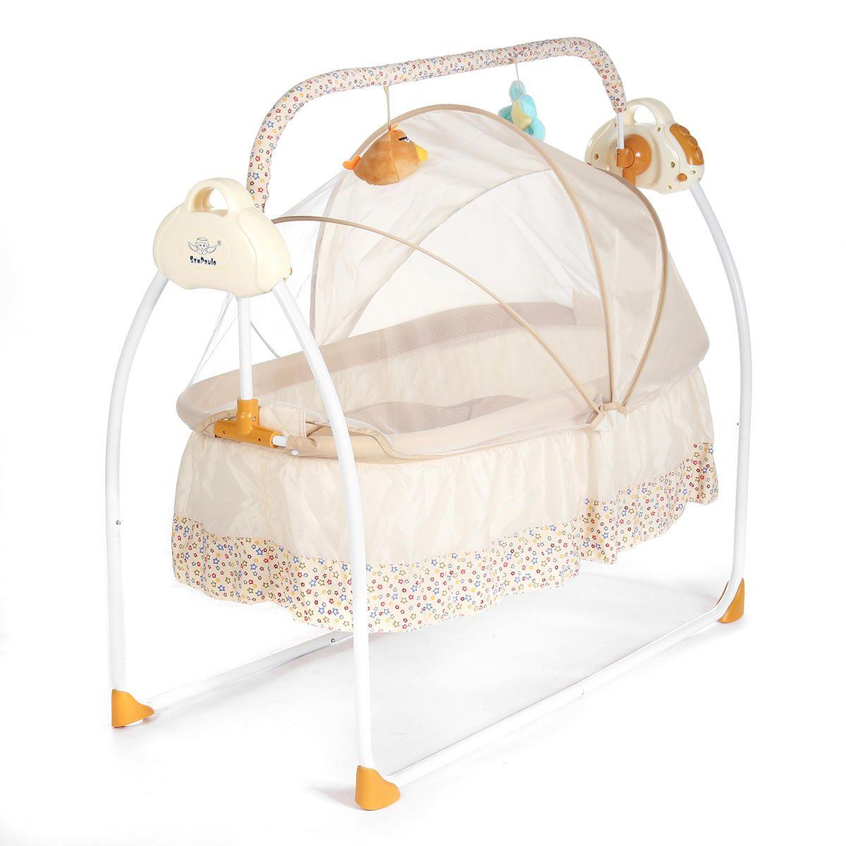 Electric Baby Crib Cradle Infant Rocker AutoSwing Baby Sleep Bed Sleep Duty Free