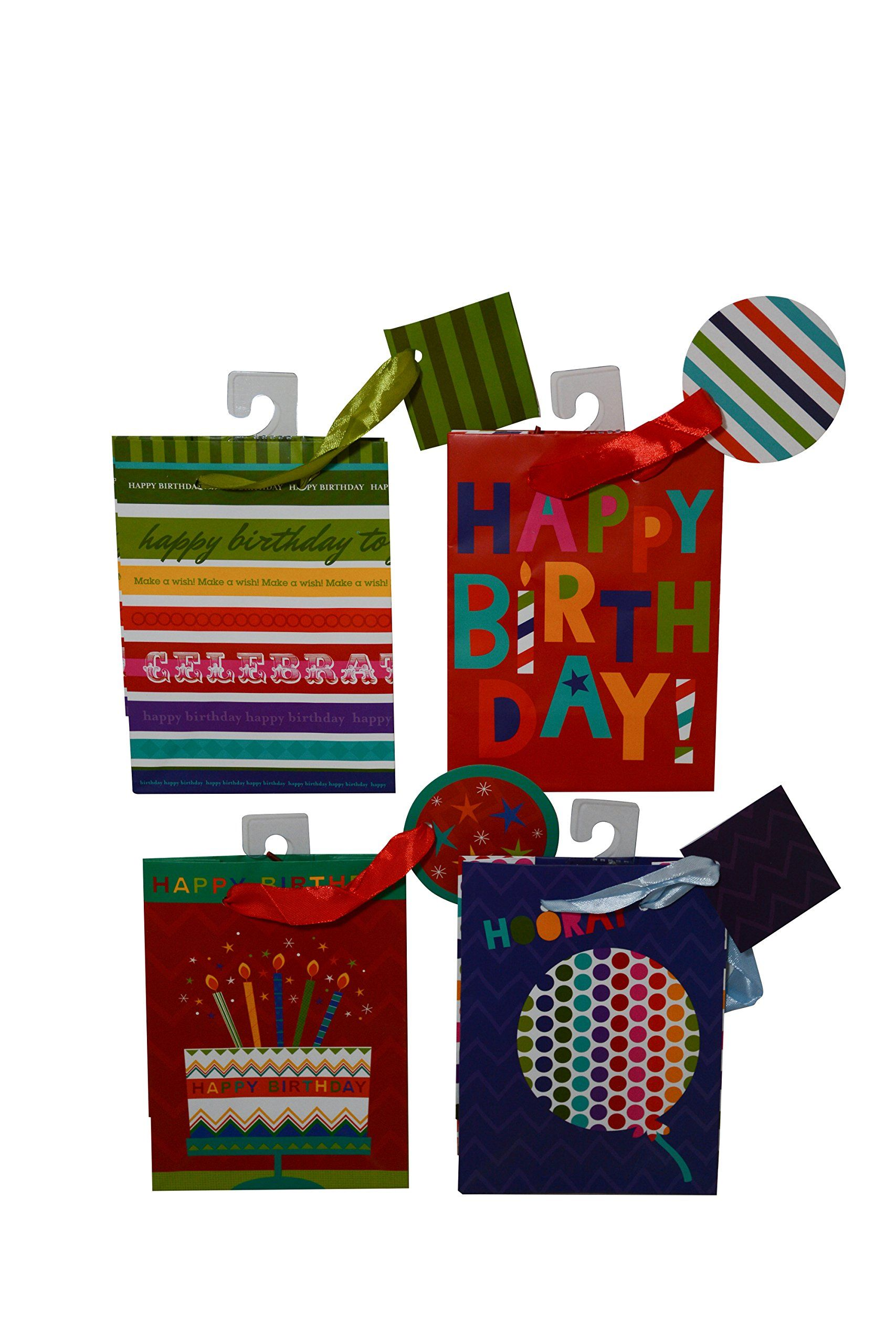 12 Birthday Gift Bags Small Mini Size With Tags 6 Of Each Design Check Out This Great ProductIt Is Amazon Affiliate Link GiftWrappingIdeas