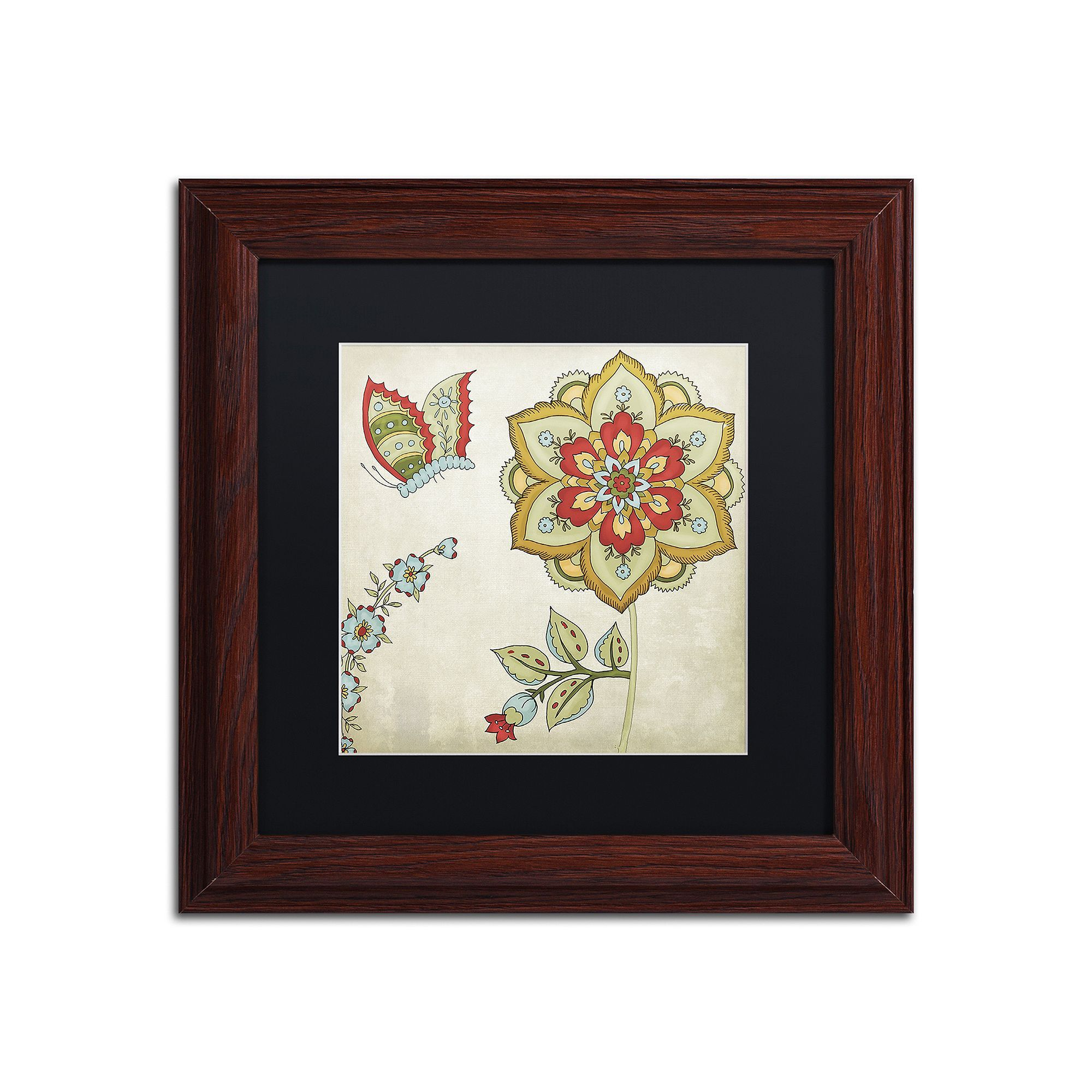 Trademark fine art sasha i traditional framed wall art white