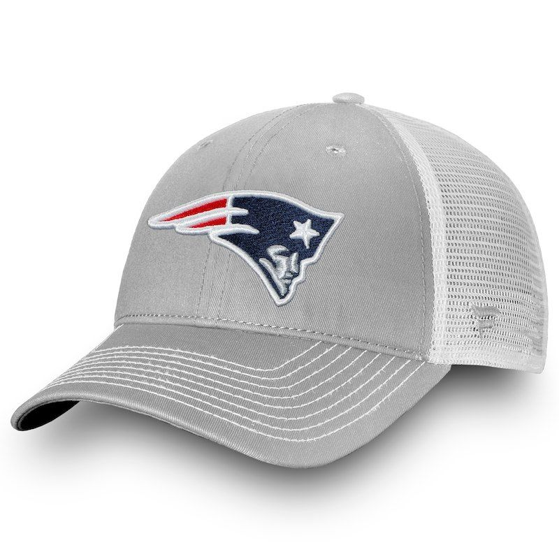 New England Patriots NFL Pro Line by Fanatics Branded Core Trucker III  Adjustable Snapback Hat - Gray White 47f31dc9a61