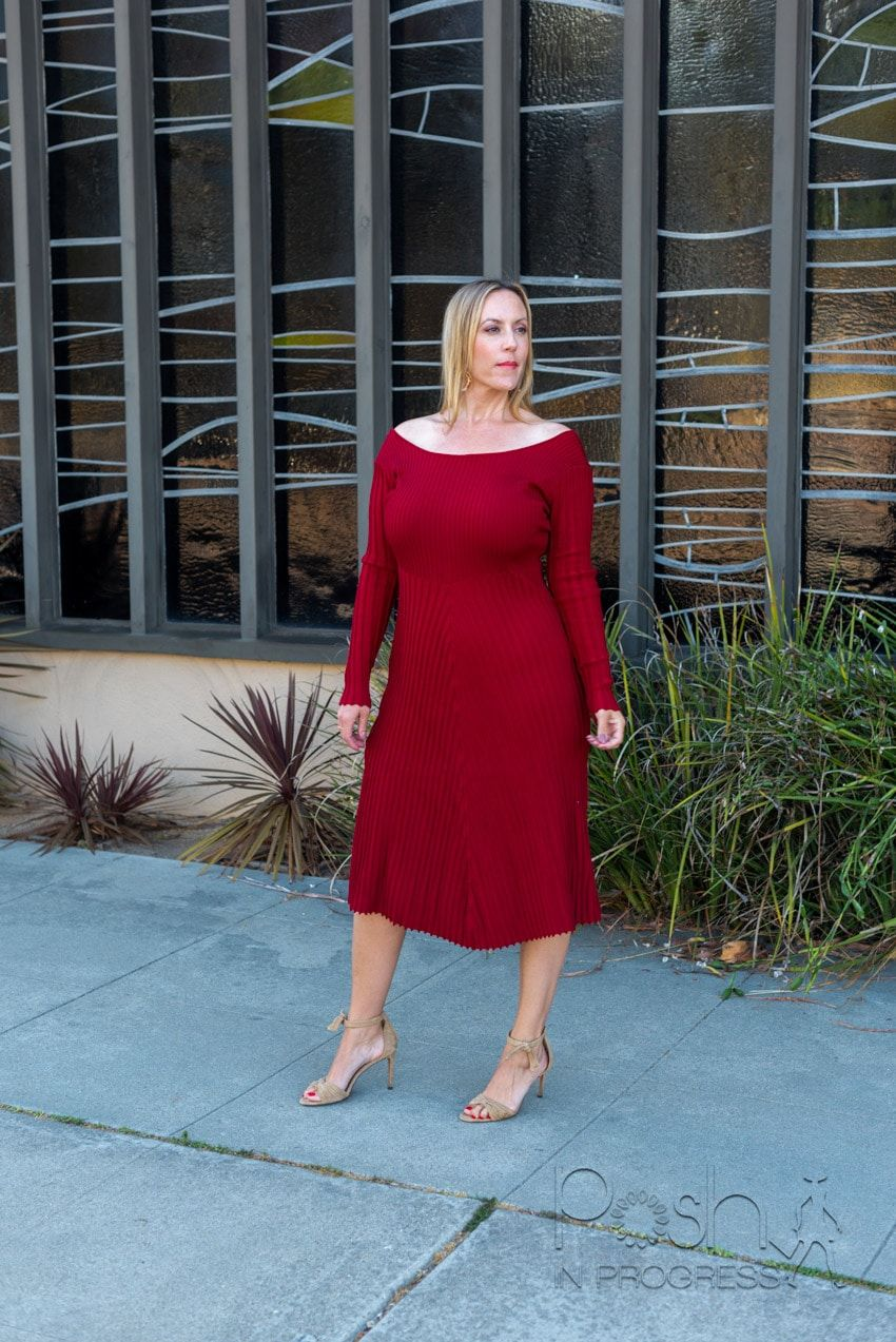 Here Is How To Style A Ribbed Midi Dress Posh In Progress Ribbed Midi Dress Dresses Midi Dress [ 1273 x 850 Pixel ]