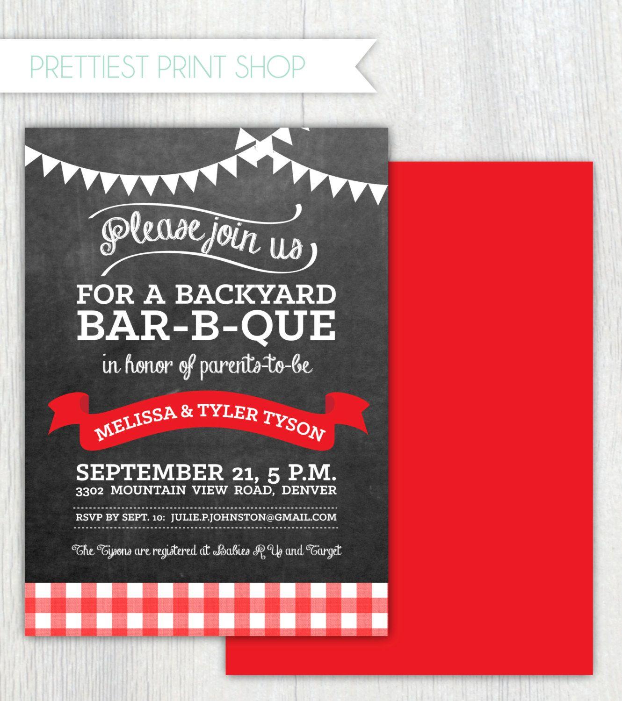 Printable Barbecue invitation Babyq Burger by PrettiestPrintShop ...