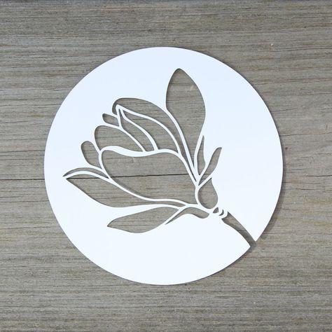 Magnolienblute Plotterfreebie Kugelig Com Silhouette Cameo Freebies Scherenschnitt Blumen Plotten