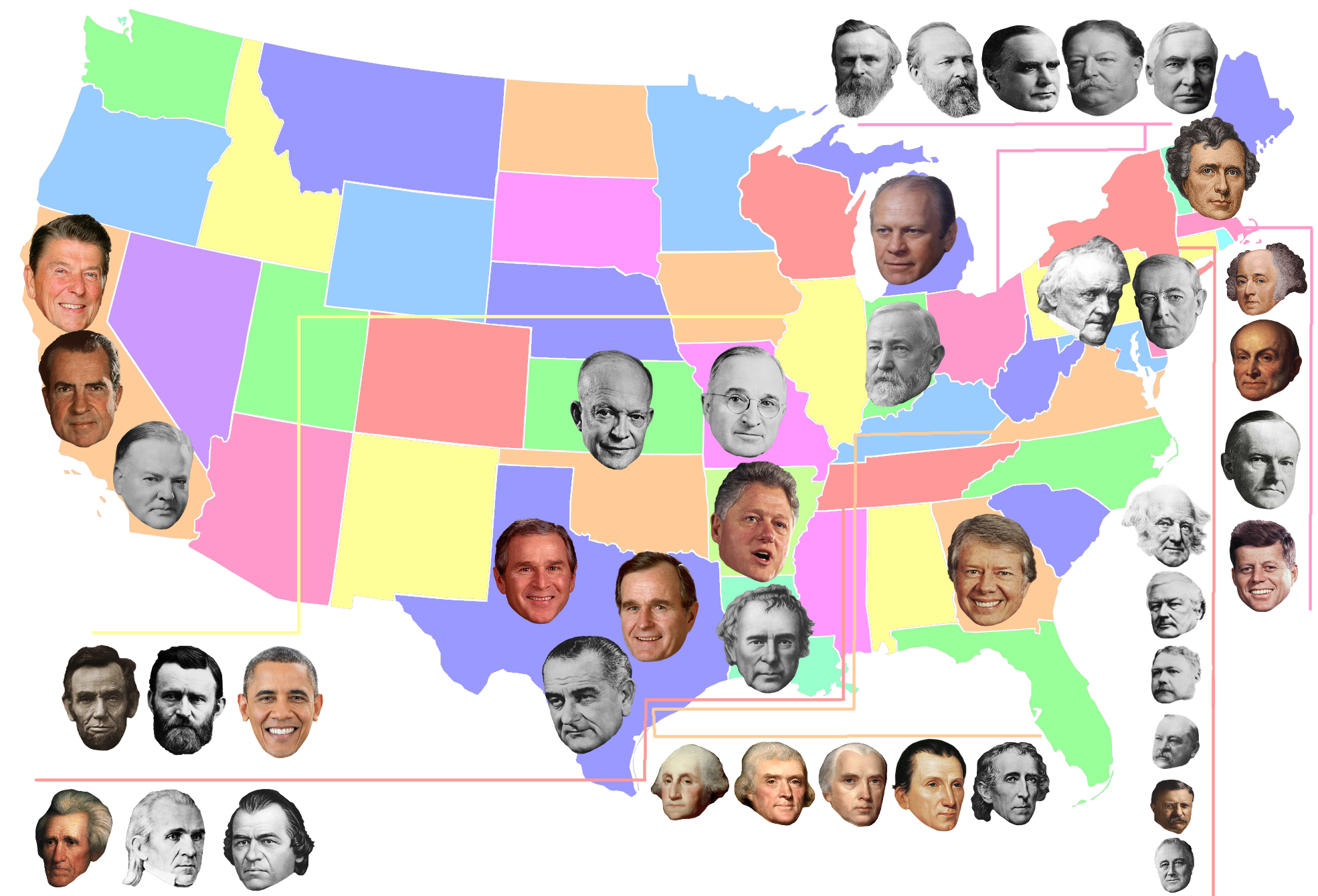 Presidential Home States | X Marks the Spot | Pinterest | State