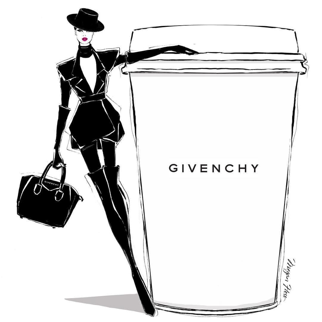 Today's coffee is in honor of Mr Givenchy. His beautiful ...