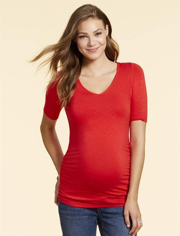 21a0b6d8dfec1 Jessica Simpson Knot Back Maternity T Shirt | Products | Jessica ...