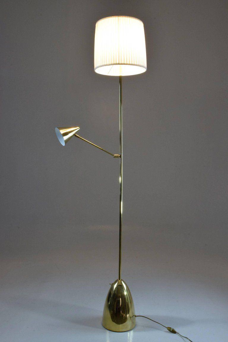Double Light Br Floor Lamp
