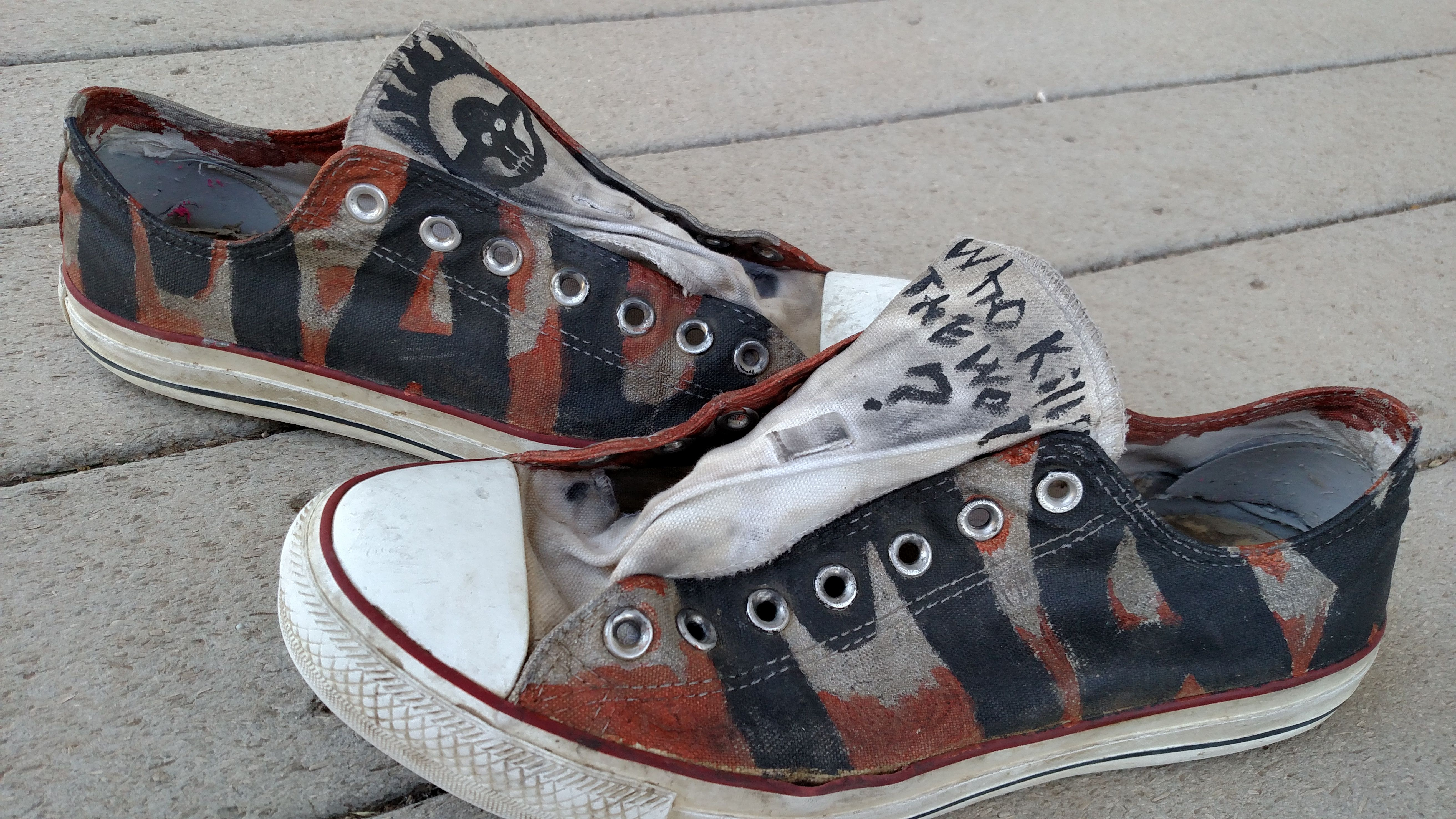 "My Mad Max style Converse for the ""Made-by-you"" Converse campaign."