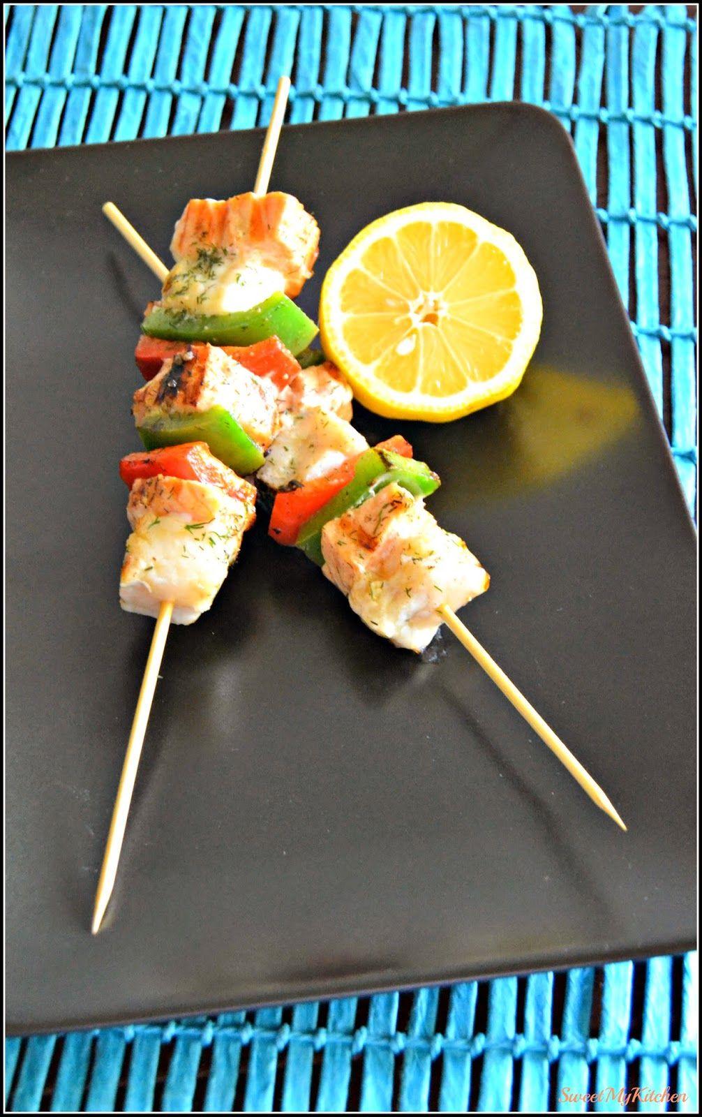 Sweet my Kitchen: Espetadas de salmão e tamboril