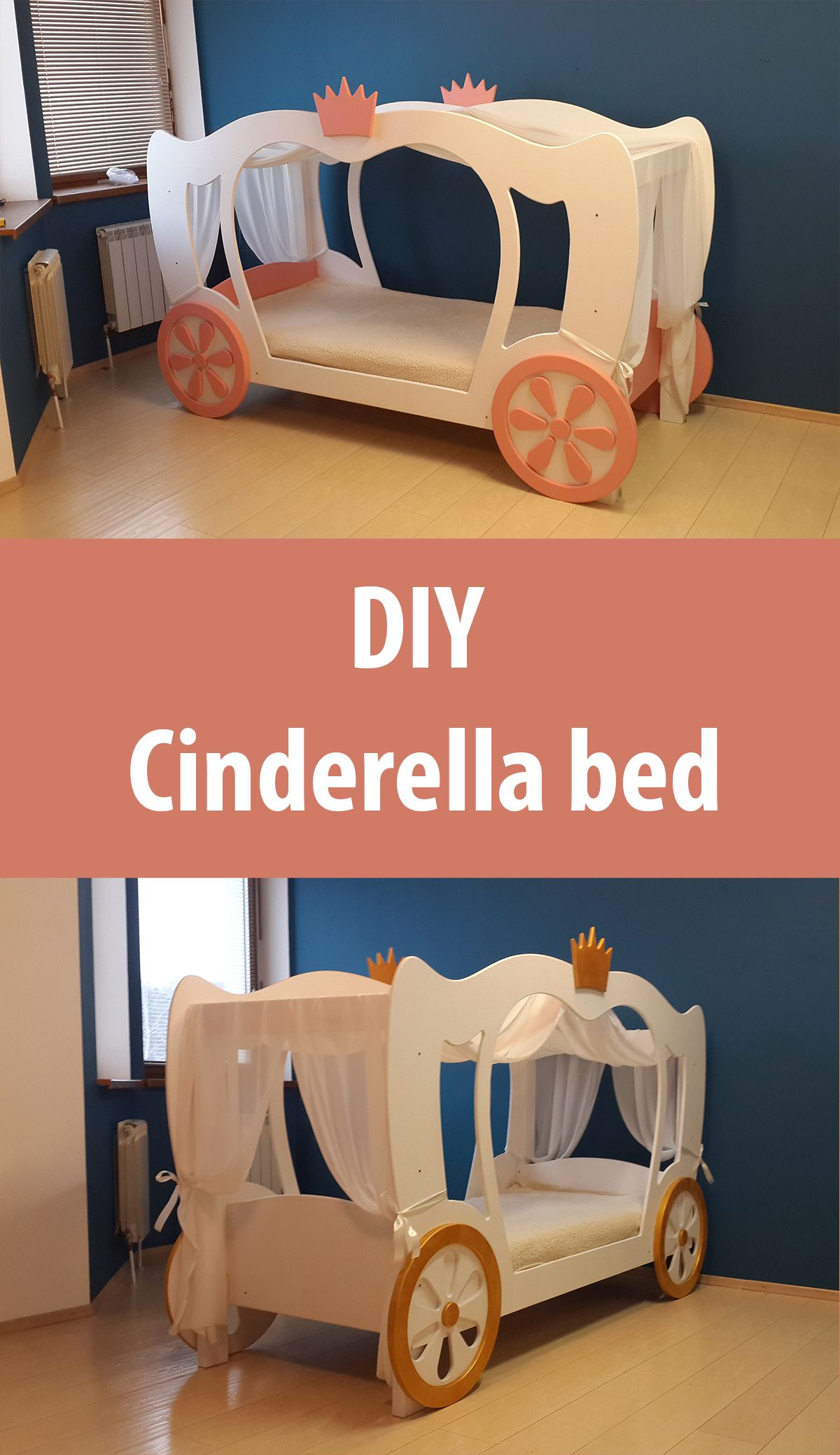 cheaper 3adcb 955df Princess Cinderella Bed PLANS and real size Templates(PDF ...