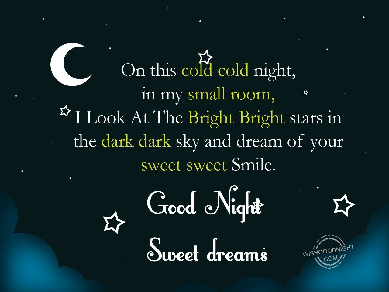 On This Cold Cold Night - Good Night Pictures