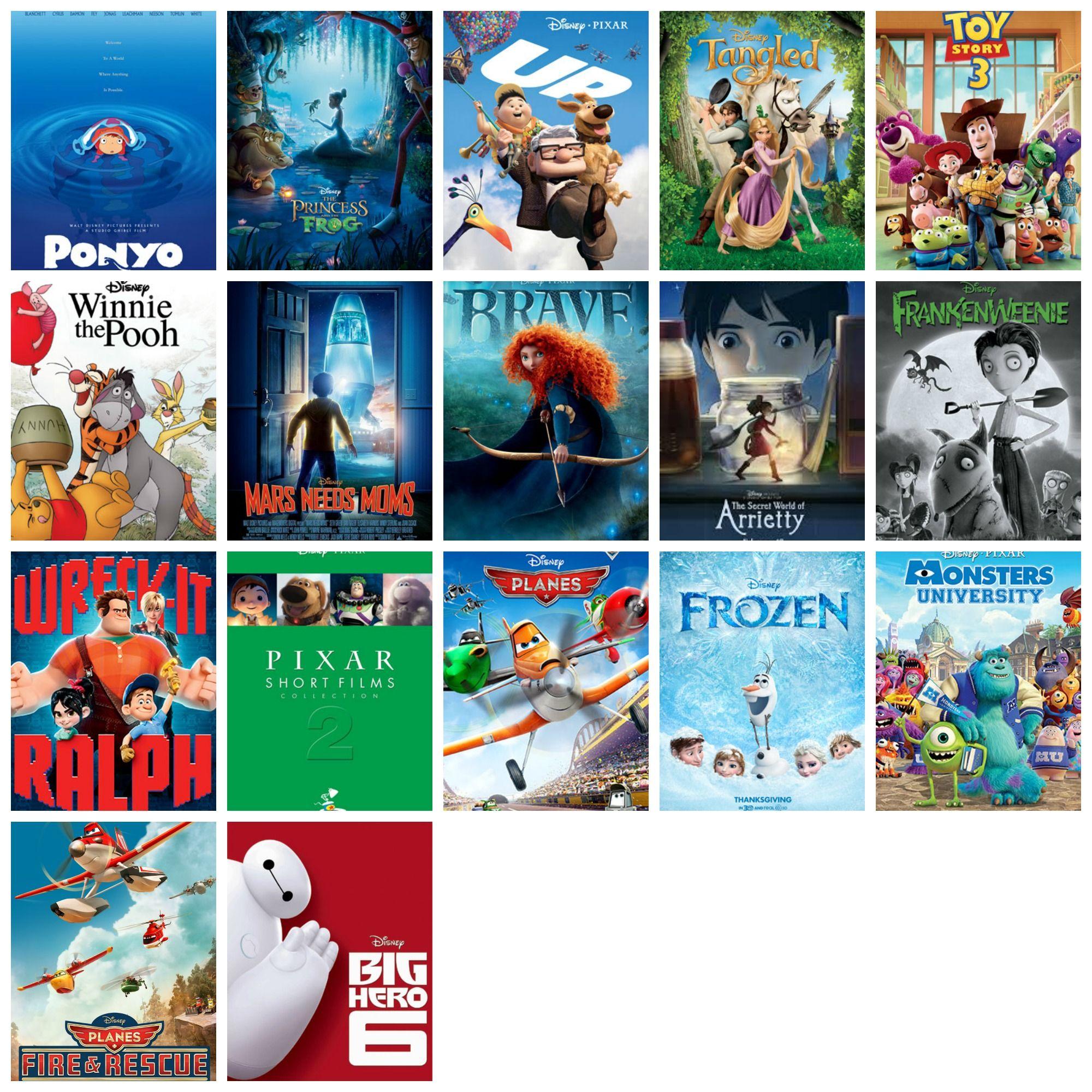2009-2014 Disney Movies In Order Of Release.