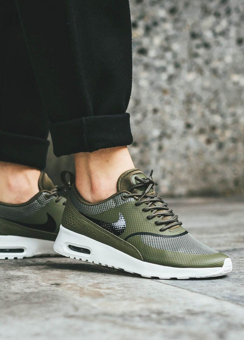 low priced 652b3 408b1 NIKE Wmns Air Max Thea Olive × Summit White FW16