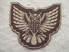 "Flying OWL 5-1/2""w. Embroidery Iron-on Custom Patch (E4)"