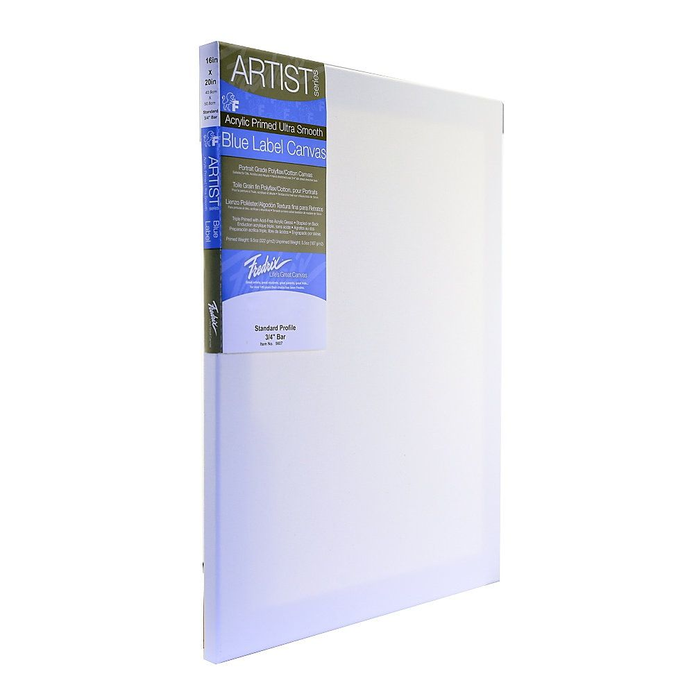 Fredrix Ultrasmooth Stretched Canvas 20X24