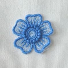 Poppy Doily Free Standing Lace - A Finished Embroidery product, not a design file or pattern