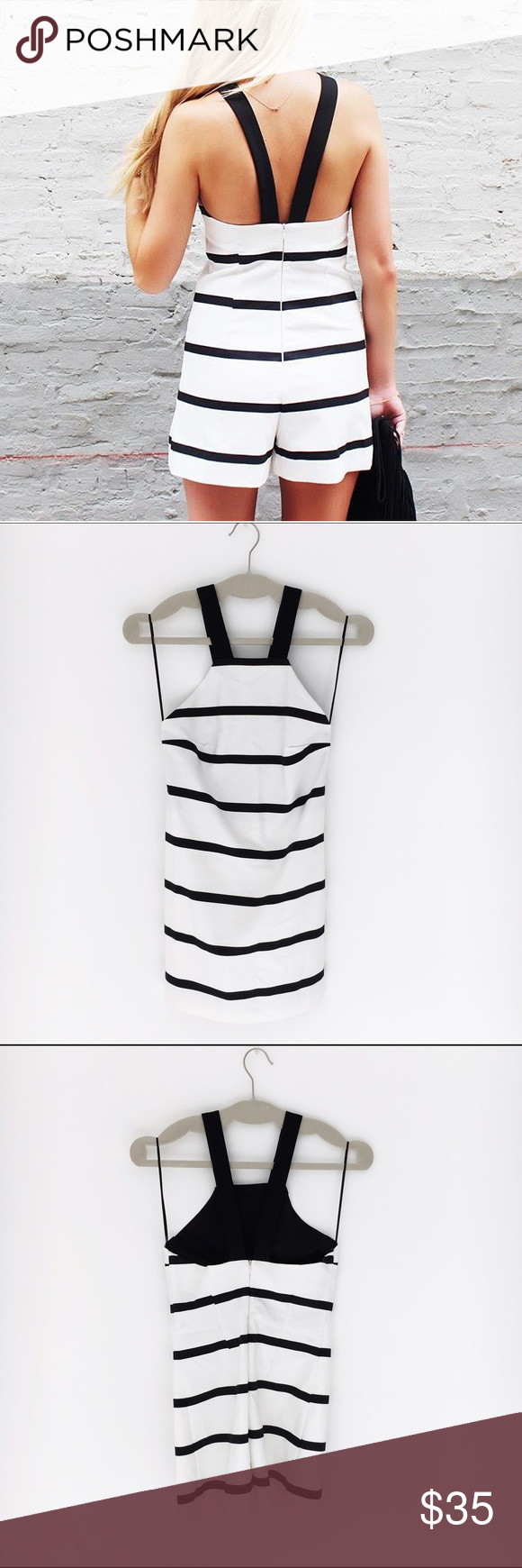 d31d226dac4 Nautical Playsuit by Zara Striped romper in black and white by Zara! Size XS