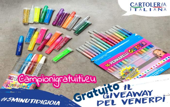 Giveaway Cartoleria Italiana vinci prodotti Glitter Mitama