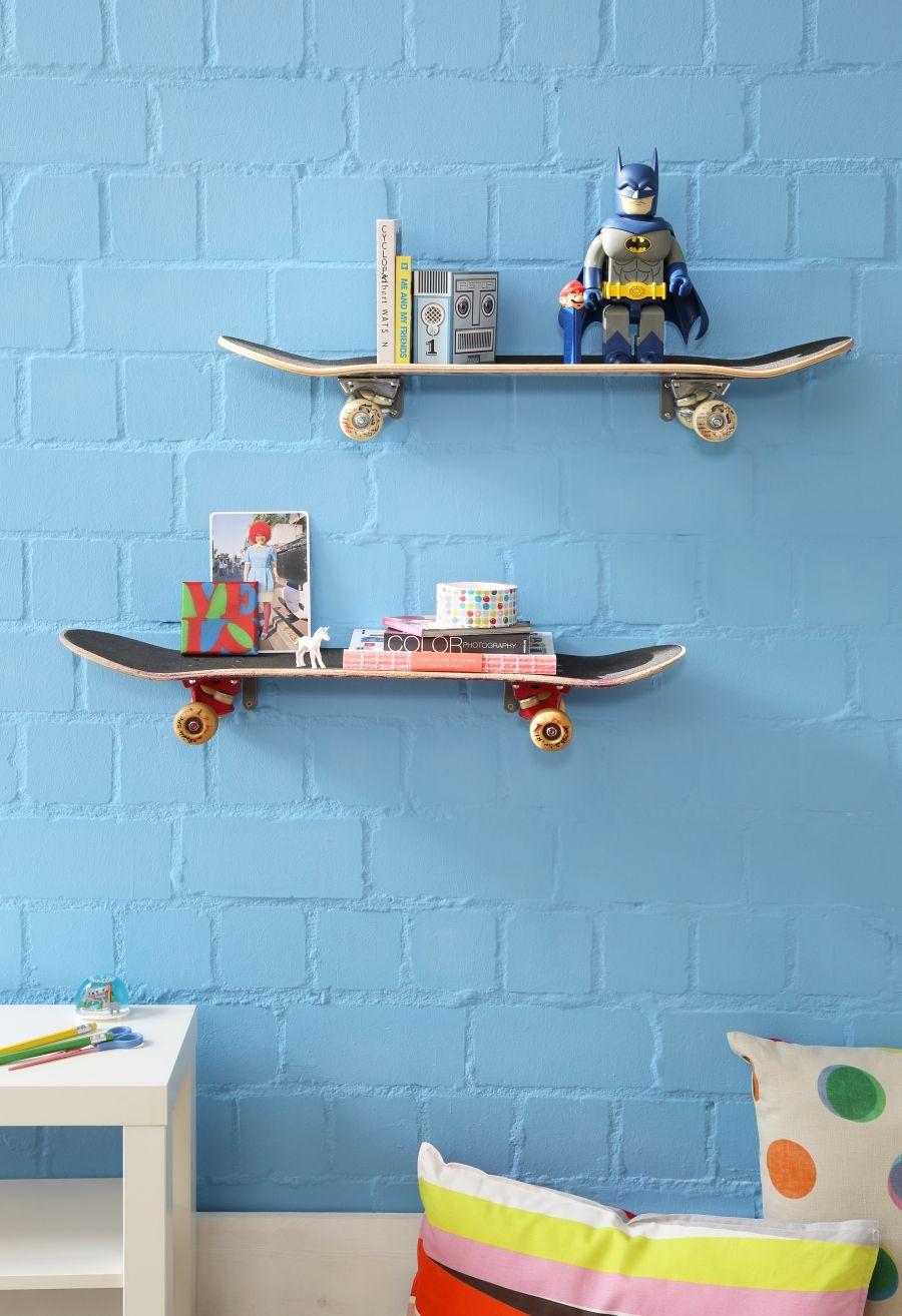 Skateboard-Regal, DIY, Upcycling, Recycling | Schöner Leben ganz ...