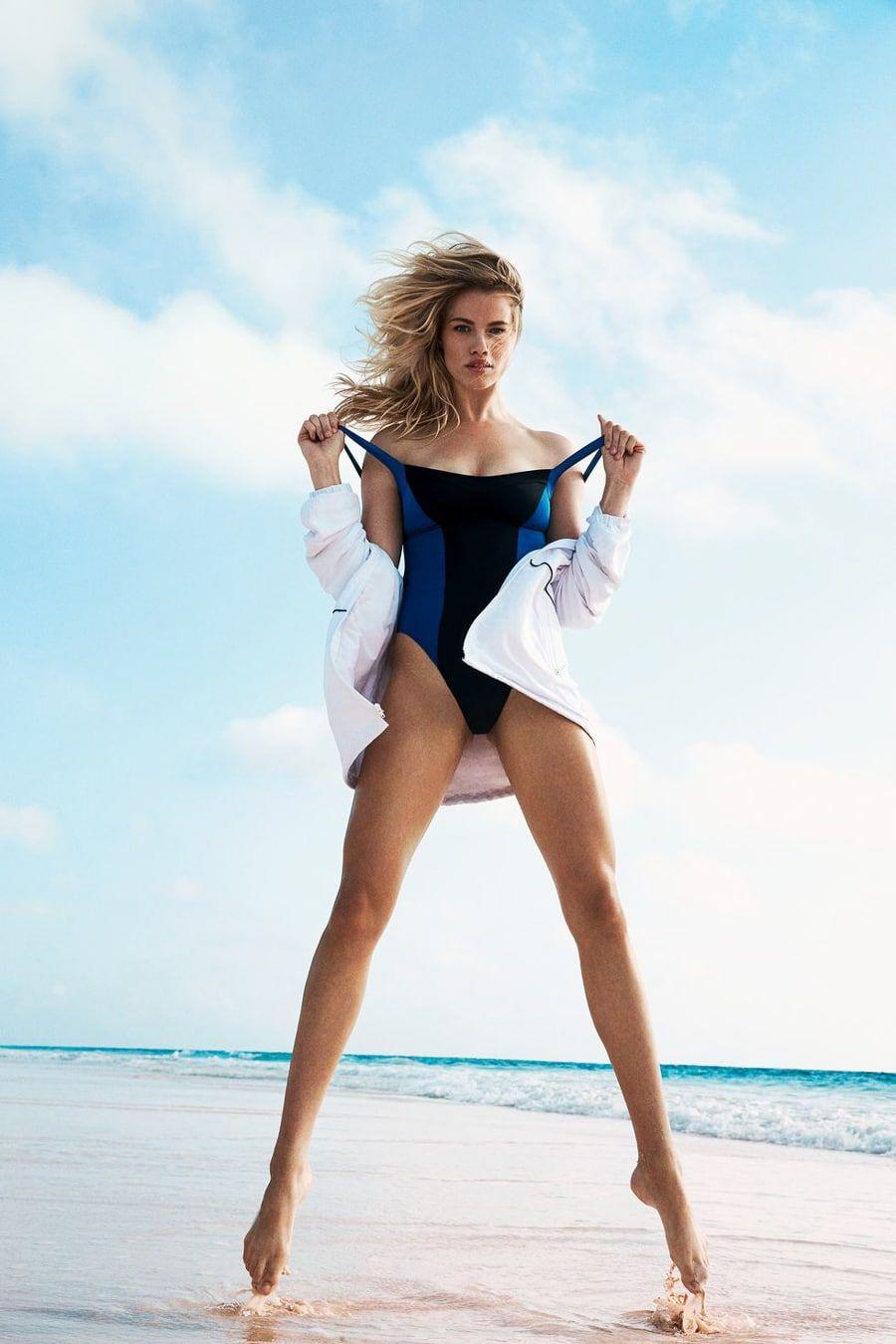 Inez Busty Awesome hailey clauson rocks beach season in si summer of swim   swimming