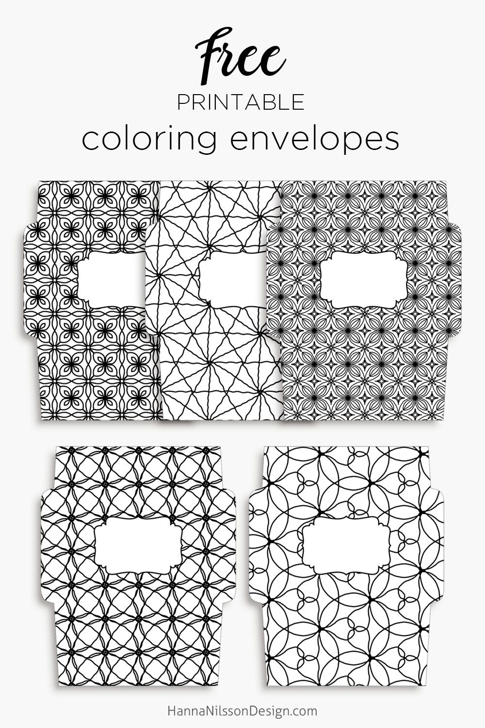 Coloring envelopes - send some colorful Happy mail with these ...