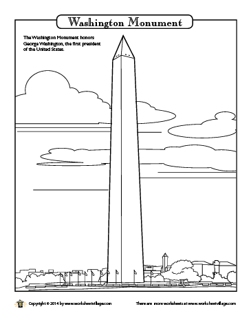 Washington Monument Coloring Page | American symbols ...