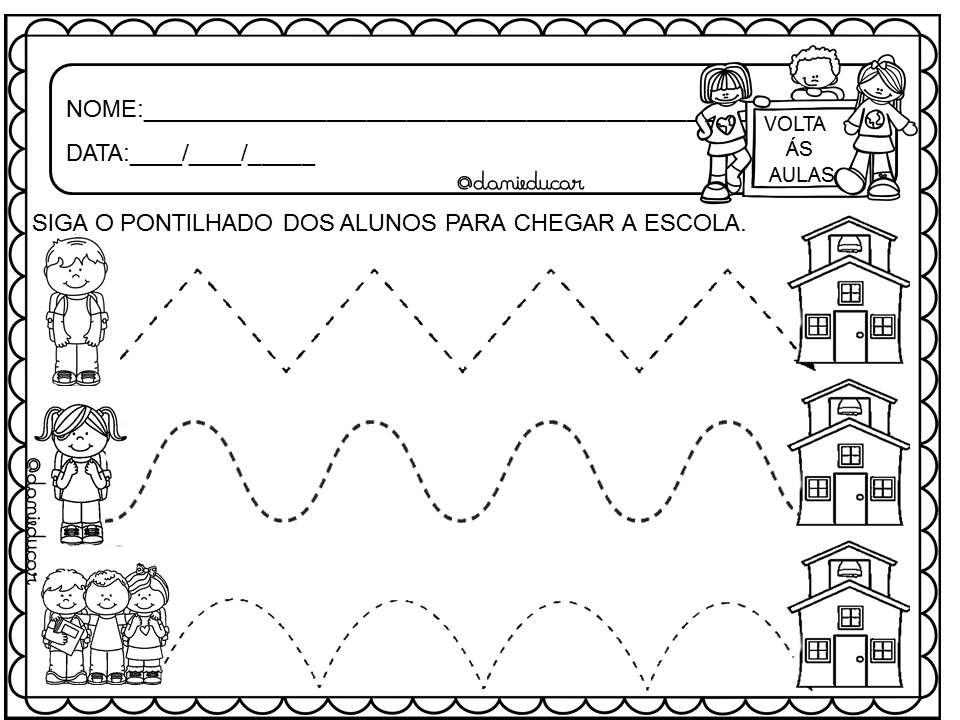 Atividades Volta As Aula Educacao Infantil Atividades Educacao