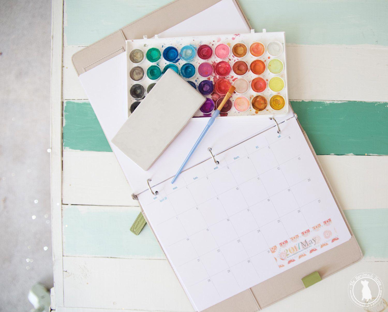 maand kalender met blokken voor elke maand