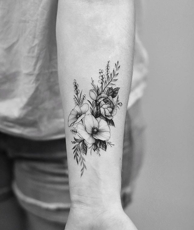 Flower Floral Arm Ink Tattoo Tumblr Tattoos Forearm Tattoo Women Small Forearm Tattoos