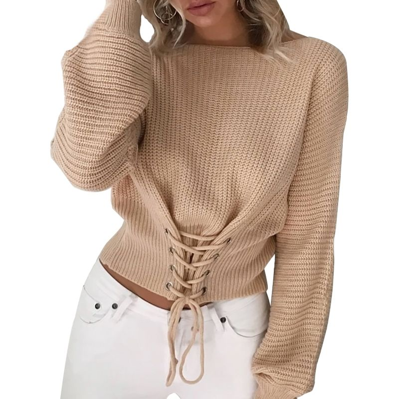 Autumn Winter Knitted Pullovers Long Sleeve O Neck