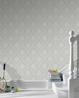 Costello graywhite graham and brown nook love this grey costello graywhite graham and brown nook love this grey patterned wallpaper in the hallway with the white painted stairs voltagebd Images