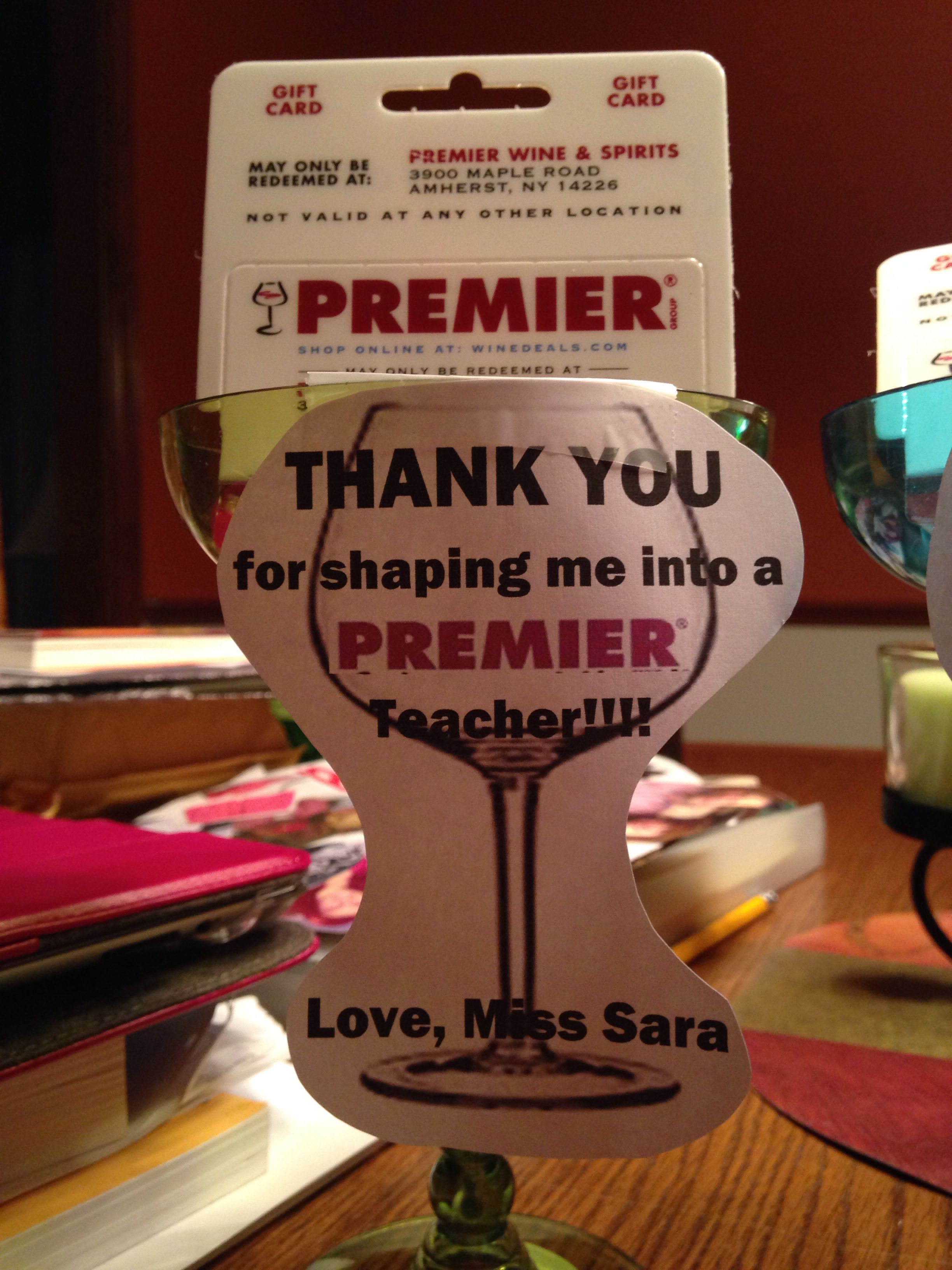 """Thank you gift for mentor teachers! """"Thank you for shaping"""