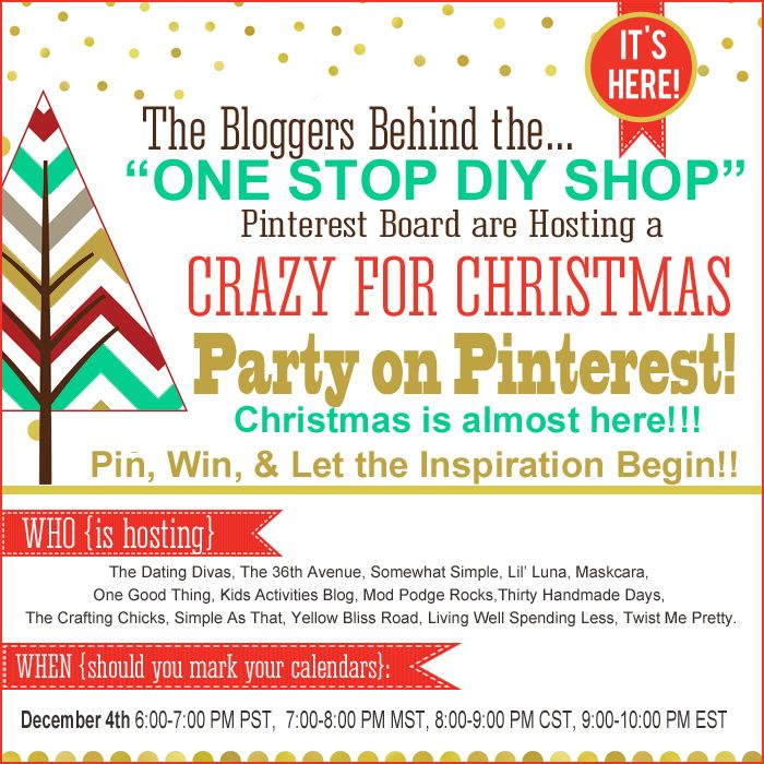 crazy for christmas party on pinterest giveaway tonight
