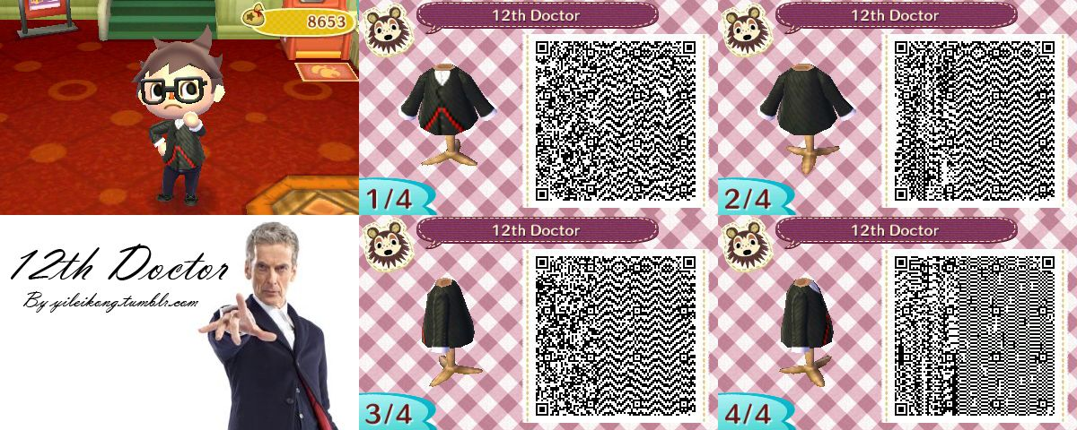 Doctor Who Animal Crossing Qr Codes Google Search Animal