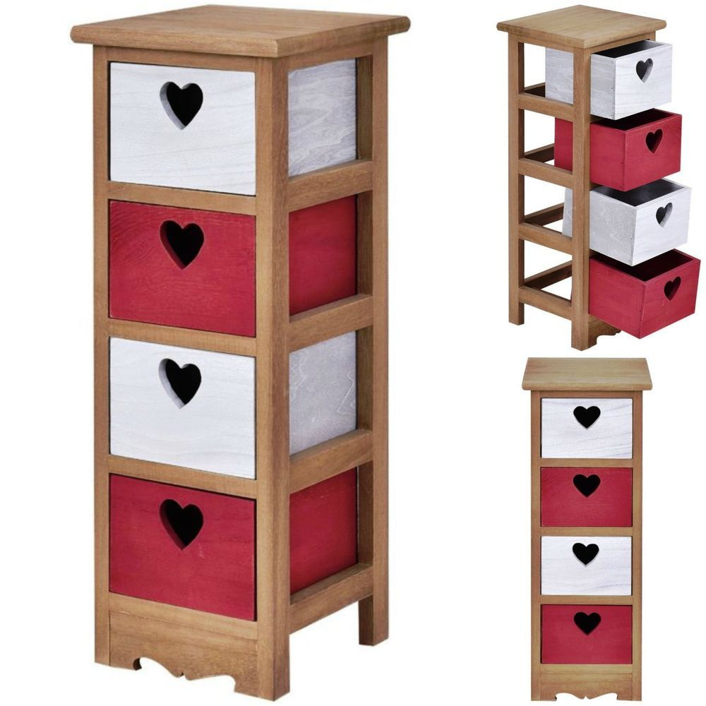 Wooden nightstand table bedside chest cabinet bedroom furniture