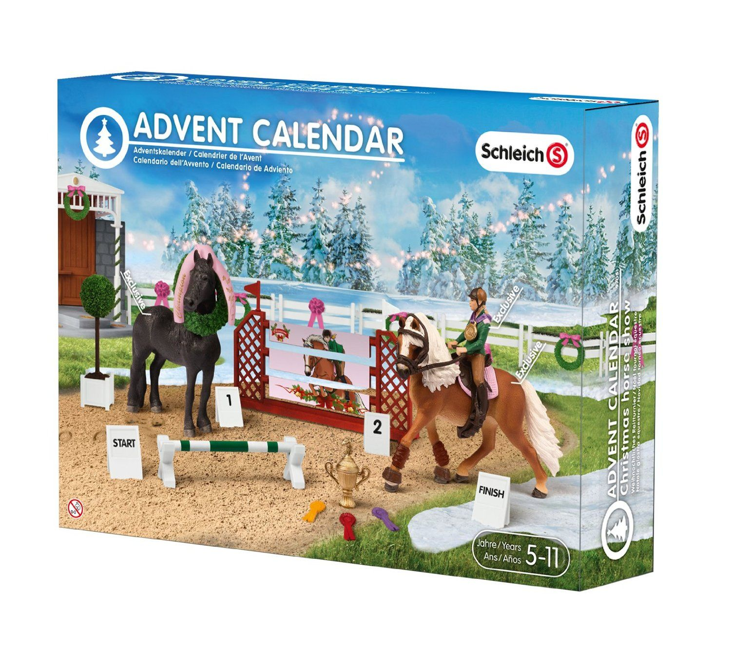 Weihnachtskalender Kaufhof.Schleich Horse Christmas Advent Calendar Amazon Co Uk Toys Games