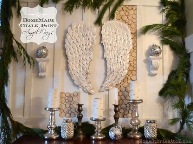 how to paint wings | Homemade Chalk Paint Angel Wings from Home Stories A to Z