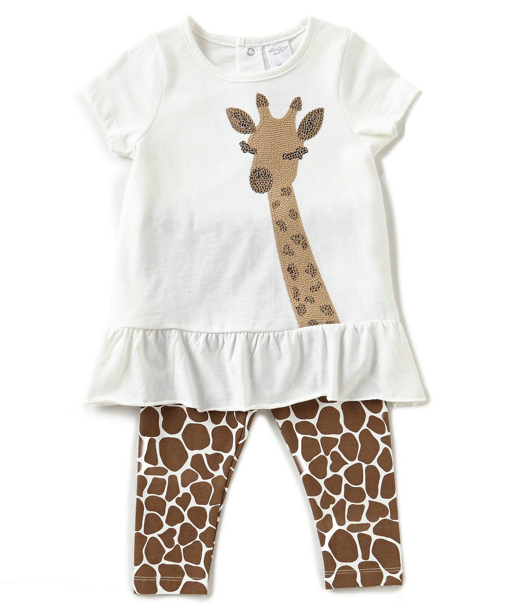 Starting Out Baby Girls 324 Months Sequined Giraffe Tunic and