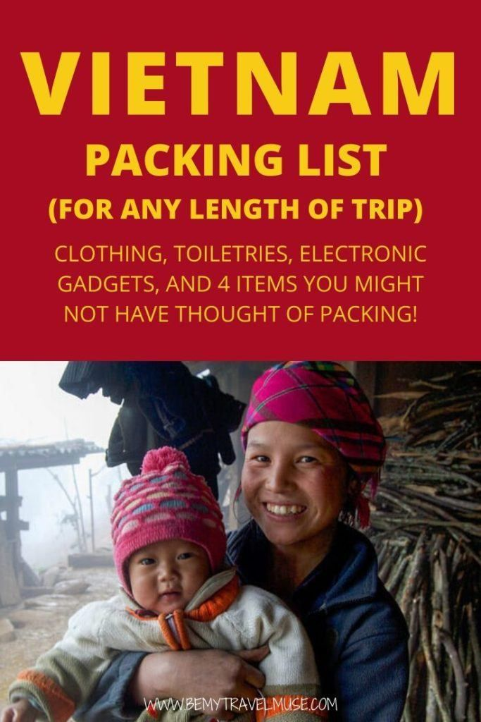 The Best Packing List for Vietnam #electronicgadgets