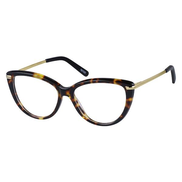 3a964b1bb857 Zenni Womens Cat-Eye Prescription Eyeglasses Tortoiseshell Mixed Materials  7807825