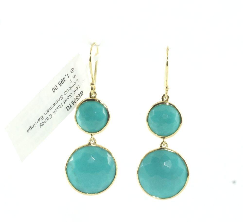 Ippolita 18K Rock Candy Turquoise Long Drop Earrings ZtzCBHgYzr