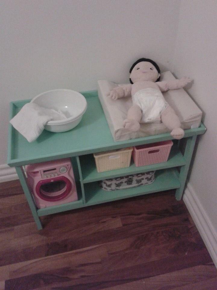 DIY dolls changing table   Delaney   Pinterest   Diy doll, Dolls and ...