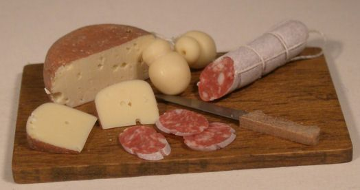 """Cheese and Salami Board by Cristina Minischetti $89.00 This was hand made in Italy,1 5/8""""long"""
