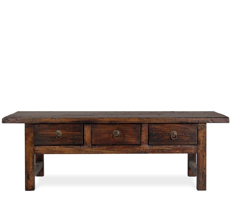 Barton Coffee Bench   Constructed Of Reclaimed Elm, The Barton Is A  Refurbished And Reproduced