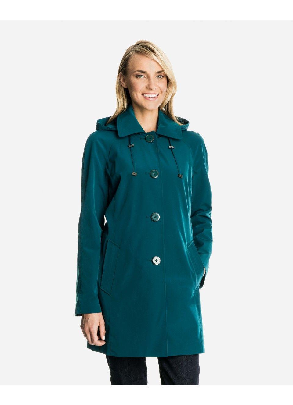 fd692b7b83e Lena Women s Raincoat with Detachable Hood