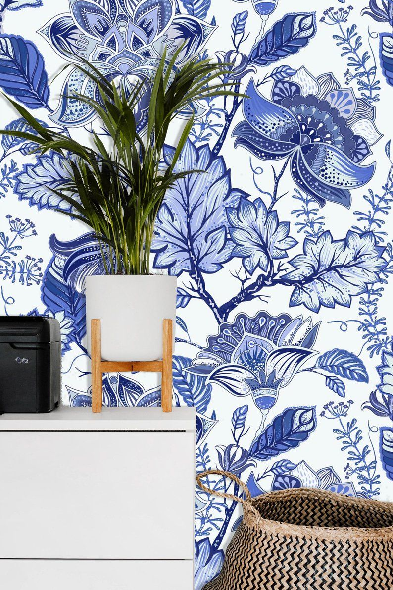 Removable Wallpaper Mural Peel & Stick Flowers Background