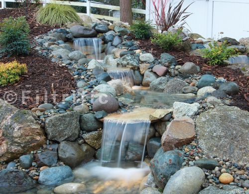 river rock stream in your yard   All bare dirt with its features, fountains  x backyard. See the first . - River Rock Stream In Your Yard All Bare Dirt With Its Features