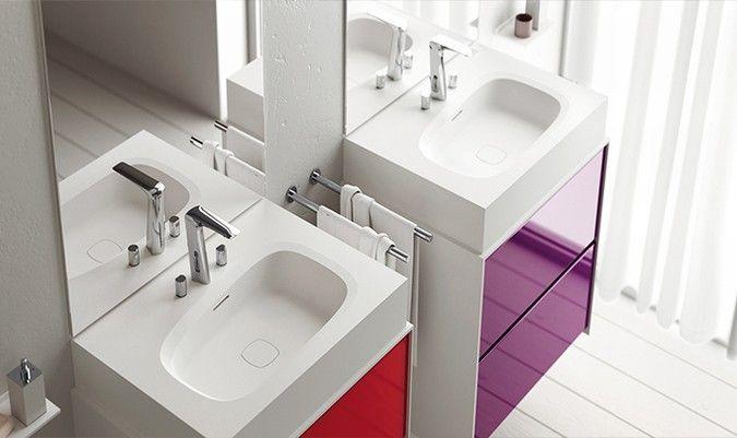 Colombo Bagno ~ Teuco outline wash basins designed by carlo colombo #washbasin