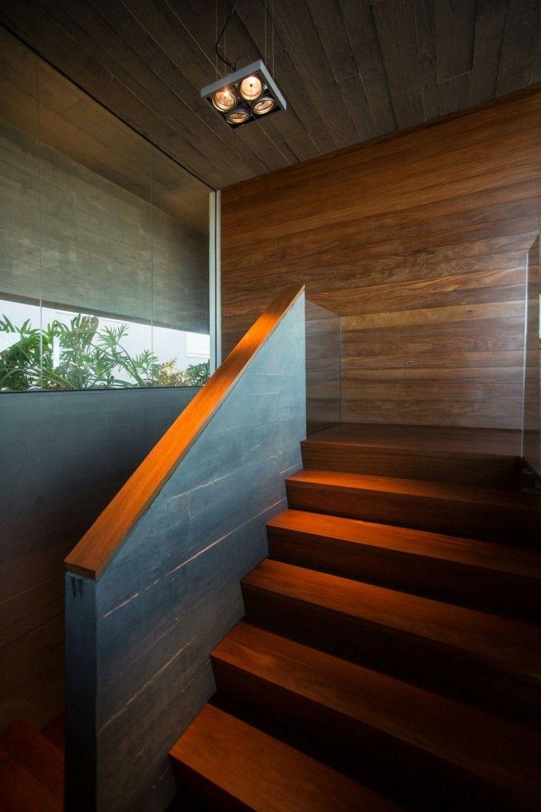 Escaleras Casa Pared Madera Laminas Preciosa Ideas Decoraci N  ~ Escaleras Prefabricadas De Madera