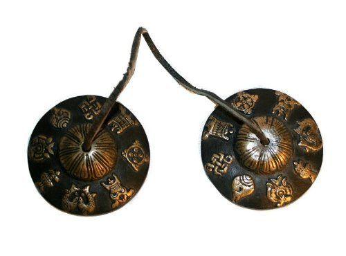 Antique Tibetan Symbols Hand Crafted 275 Diameter Ting Sha Large